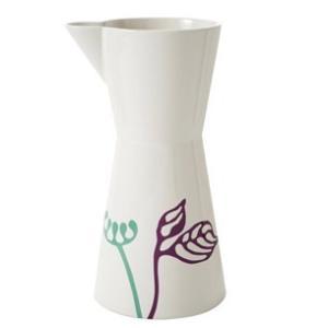 ピッチャー 陶器 ヘルバック HELBAK FLOWER Pitcher large  (L) H:25cm 1000ml  カラー:パープル&ミント FL22-05 北欧雑貨 ハンドメイド 花瓶 bellemessage