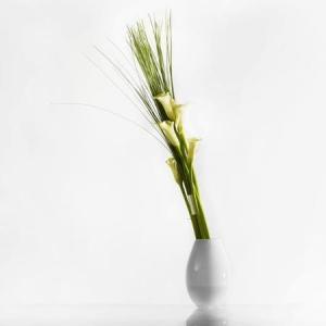 花瓶 ガラス 北欧 ホルムガード COCOON コクーン ベース ホワイト (S) H17cm 4800077 フラワーベース ギフト  日本正規代理店品|bellemessage
