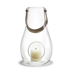 キャンドルランタン ガラス 北欧 ホルムガード DESIGN WITH LIGHT ランタン クリア(L) 29cm 4343500 吹きガラス キャンドルホルダー 日本正規代理店品|bellemessage