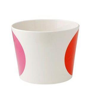 ボウル 陶器 北欧 ヘルバック HELBAK MEGA DOT container (L) H:12cm  カラー:ピンク&オレンジ MD15-02 北欧雑貨 bellemessage