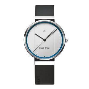 腕時計 ヤコブ イェンセン New ニューシリーズ NEW750  35mm ホワイト×ブルー watch メンズ 日本正規代理店品|bellemessage