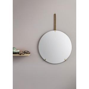 ウォールミラー MOEBE ムーベ WALL MIRROR 直径50cm Brass ブラス 壁掛けミラー 鏡 北欧 WMBR50|bellemessage