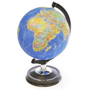 【26cm 地球儀】 昭和カートン(三貴工業) 日本地図付 学習用地球儀 26GF