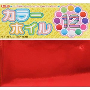 トーヨー カラーホイル折り紙12色 00800...の関連商品2