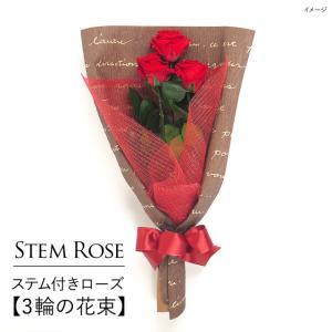 クリスマス 花 プレゼント 2020 プリザーブドフラワー   #ステム付きローズ【3輪の花束】「なでしこJAPAN」にカズが贈ったバラ  あすつく対応|belles-fleurs