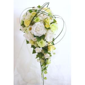 結婚式 ブライダル 前撮り送料無料 プリザーブドフラワー セミキャスケードブーケ #ベアグラス  ◆boq|belles-fleurs