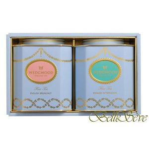 WEDGWOOD TEA GIFT SELECTION 紅茶2缶のギフトセット。(イングリッシュ ブ...