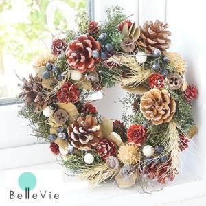 クリスマスリース マイサイズリース(23〜25cm)|bellevie