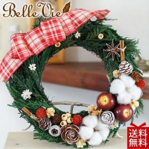 クリスマスリース ギフト 送料無料 ナチュラル・クリスマスリース|bellevie