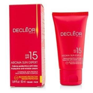デクレオール Decleor サンケア、タンニング アロマ サン エクスパート プロテクティブ アンチリンクル クリーム ミディアムプロテクション SPF15 50ml/1.69o|belleza-shop