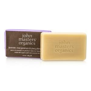 ジョンマスターオーガニック John Masters Organics ソープ LRG&YY ソープ(ラベンダー、ローズ、ゼラニウム&イランイラン) 128g/4.5oz belleza-shop