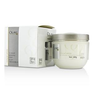 オーレイ Olay サンケア、タンニング ナチュラル ホワイト UV ナチュラル ライトニング クリーム SPF18 100g/3.5oz|belleza-shop