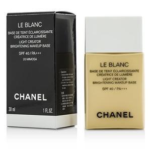 シャネル Chanel 化粧下地 ル ブラン ライト クリエーター ブライトニング メイクアップ ベース SPF40 - #20 Mimosa 30ml/1oz|belleza-shop