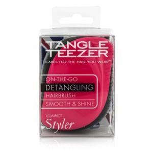 タングル ティーザー コンパクト スタイラー オンザゴー ディタングリング ヘアブラシ ピンクシズル 1pc|belleza-shop