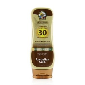 オーストラリアン ゴールド Australian Gold サンケア、タンニング ローション サンスクリーン ブロード スペクトラム SPF30 with インスタント ブロンザー 2|belleza-shop