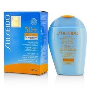 資生堂 Shiseido サンケア、タンニング エクスパート サン プロテクション ローション ウェットフォース SPF50+ UVA For Sensitive Skin & Children 100ml/3|belleza-shop