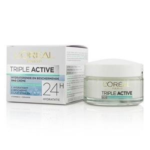 ロレアル L'Oreal クリーム トリプル アクティブ マルチ プロテクティブ デイクリーム 24H ハイドレーション For Normal/ Combination Skin 50ml/1.7oz|belleza-shop