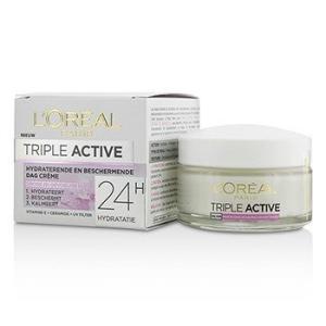 ロレアル L'Oreal クリーム トリプル アクティブ マルチ プロテクティブ デイクリーム 24H ハイドレーション For Dry/ Sensitive Skin 50ml/1.7oz|belleza-shop
