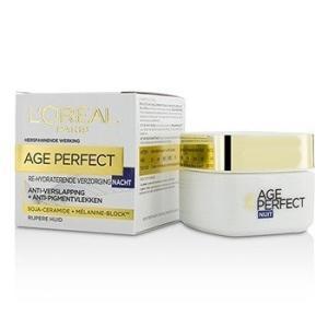 ロレアル L'Oreal クリーム エイジ パーフェクト リハイドレイティング ナイト クリーム For Mature Skin 50ml/1.7oz|belleza-shop