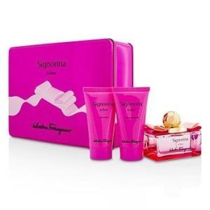 フェラガモ Salvatore Ferragamo 香水 シニョリーナ イン フィオーレ コフレ 3pcs|belleza-shop