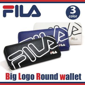 フィラ FILA ビッグロゴ ラウンド財布 財布 長財布 ウォレット ブラック レディース メンズ ブランド
