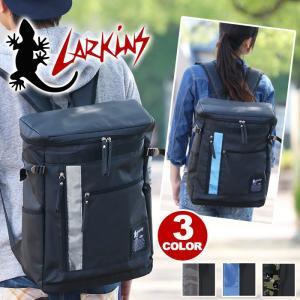 スクエアリュックサック LARKINS ラーキンス リュックサック BOX リュックサック デイパック バックパック B4 bellezza