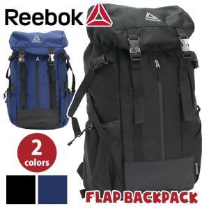 リーボック Reebok フラップバックパック 男女兼用 ブラック ネイビー ARB1004