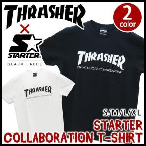 Tシャツ スラッシャー THRASHER メンズ 半袖 おしゃれ STARTER|bellezza
