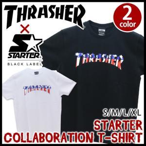 半袖 メンズ Tシャツ スラッシャー THRASHER おしゃれ STARTER|bellezza