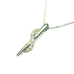 プラチナ900 ダイヤモンド スパイラルペンダントネックレス|bellhouse-suzuya