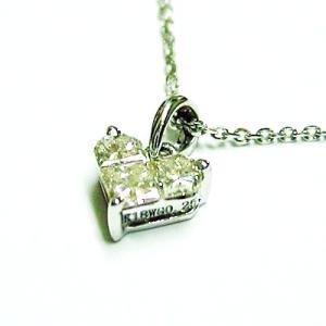 k18wg ダイヤモンド ハートカットペンダントネックレス|bellhouse-suzuya