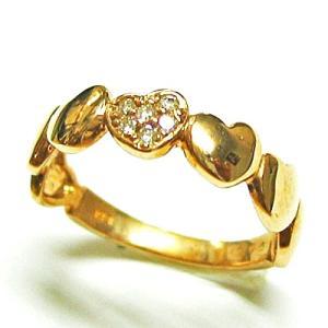 k18ピンクゴールド ダイヤモンド 7ハートリング|bellhouse-suzuya