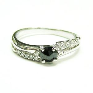 プラチナ900 ブラックダイヤ ダイヤモンドラウンドリング|bellhouse-suzuya|04