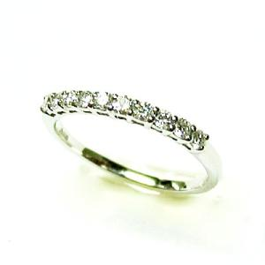 プラチナ900 ダイヤモンド一文字ピンキーリング|bellhouse-suzuya