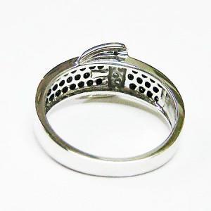 k18ホワイトゴールド ブラックダイヤ ダイヤモンド バックルリング 0.50ct|bellhouse-suzuya|04