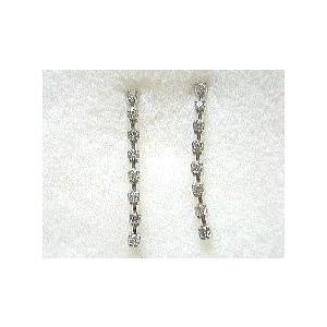 k18wg.ダイヤモンドセミロングピアス|bellhouse-suzuya