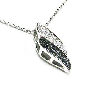 k18ホワイトゴールド ブラックダイヤ ダイヤモンド 2トーンペンダントネックレス|bellhouse-suzuya|02