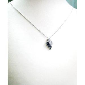 k18ホワイトゴールド ブラックダイヤ ダイヤモンド 2トーンペンダントネックレス|bellhouse-suzuya|05