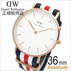 ダニエルウェリントン Daniel Wellington 腕時計 カンタベリー/ローズ メンズ・レディース 36mm 0502DW|bellmart