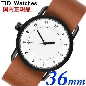 TID Watches ティッドウォッチズ No.1 ホワイト文字盤 タンレザー 36mm 男女兼用 ユニセックス メンズ レディース 10200104|bellmart