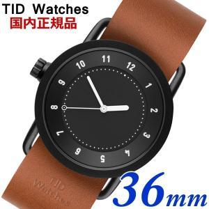 TID Watches ティッドウォッチズ No.1 ブラック文字盤 タンレザー 36mm 男女兼用 ユニセックス メンズ レディース 10210104|bellmart