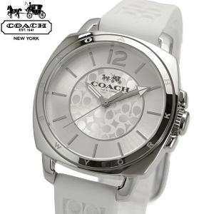 コーチ COACH 腕時計 BOYFRIEND MINI ボーイフレンドミニ シグネチャー ホワイト シリコンベルト レディース 14502093|bellmart