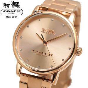 コーチ COACH 腕時計 レディース GRAND グランド 36mm ローズゴールド文字盤 ステンレスベルト 14502929 bellmart