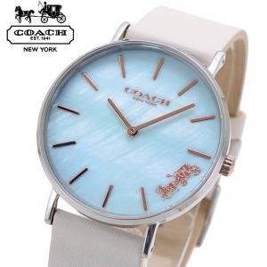 コーチ COACH 腕時計 レディース ペリー PERRY 36mm ライトブルーシェル文字盤 14503270|bellmart