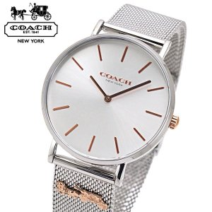 コーチ COACH 腕時計 レディース  PERRY ペリー 36mm シルバー文字盤 ステンレスメッシュベルト 14503336|bellmart