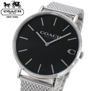 コーチ COACH 腕時計 メンズ チャールズ Charles 41mm ブラック文字盤 ステンレスメッシュベルト 14602144|bellmart