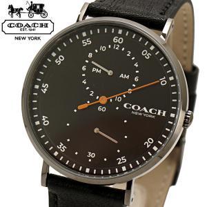 コーチ COACH 腕時計 メンズ チャールズ Charles 41mm ブラック文字盤 牛革ベルト 14602476|bellmart