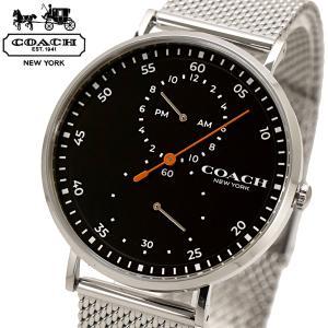 コーチ COACH 腕時計 メンズ チャールズ Charles 41mm ブラック文字盤 ステンレスメッシュベルト 14602477|bellmart