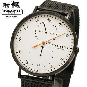 コーチ COACH 腕時計 メンズ チャールズ Charles 41mm ホワイト文字盤 ステンレスメッシュベルト 14602480 bellmart