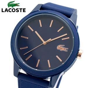 ラコステ LACOSTE 腕時計 メンズ レディース ユニセックス 42mm ネイビー x ローズゴールド L.12.12 2011011 bellmart